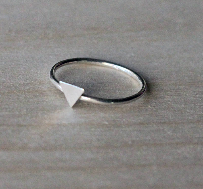 Triangle Charm Ring