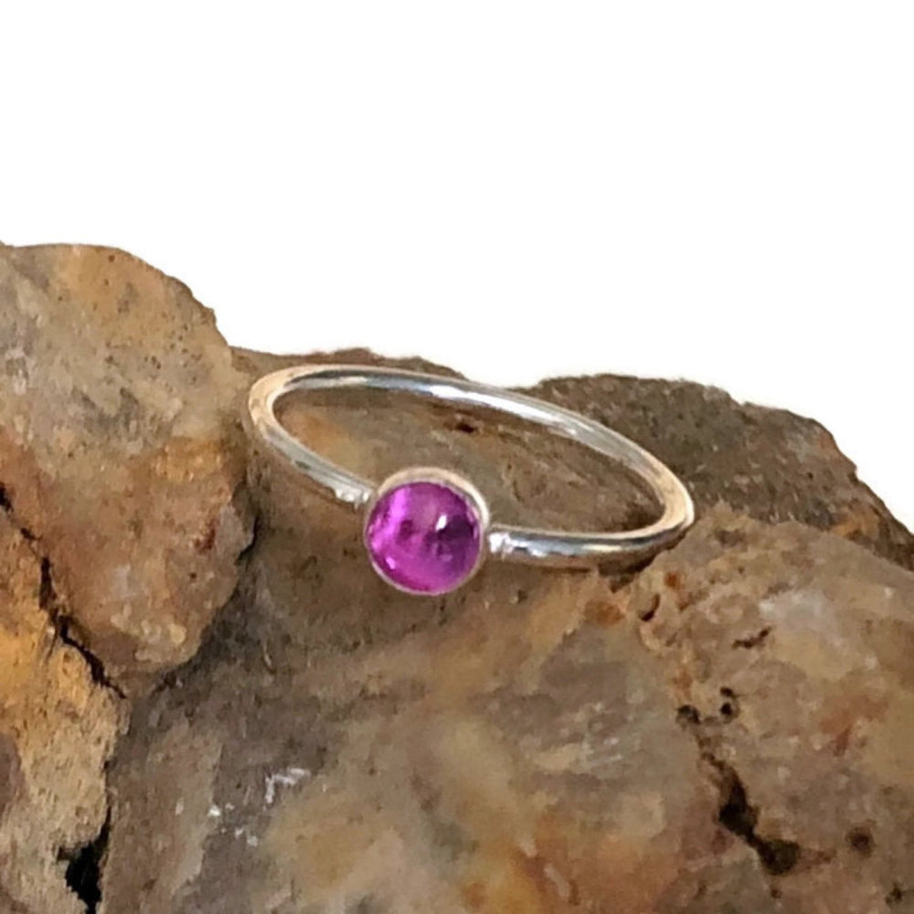 Pink Sapphire (Lab-Created) Ring