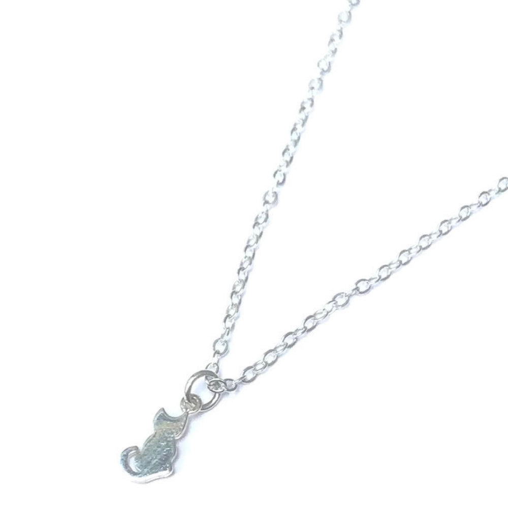 Sitting Cat Charm Necklace