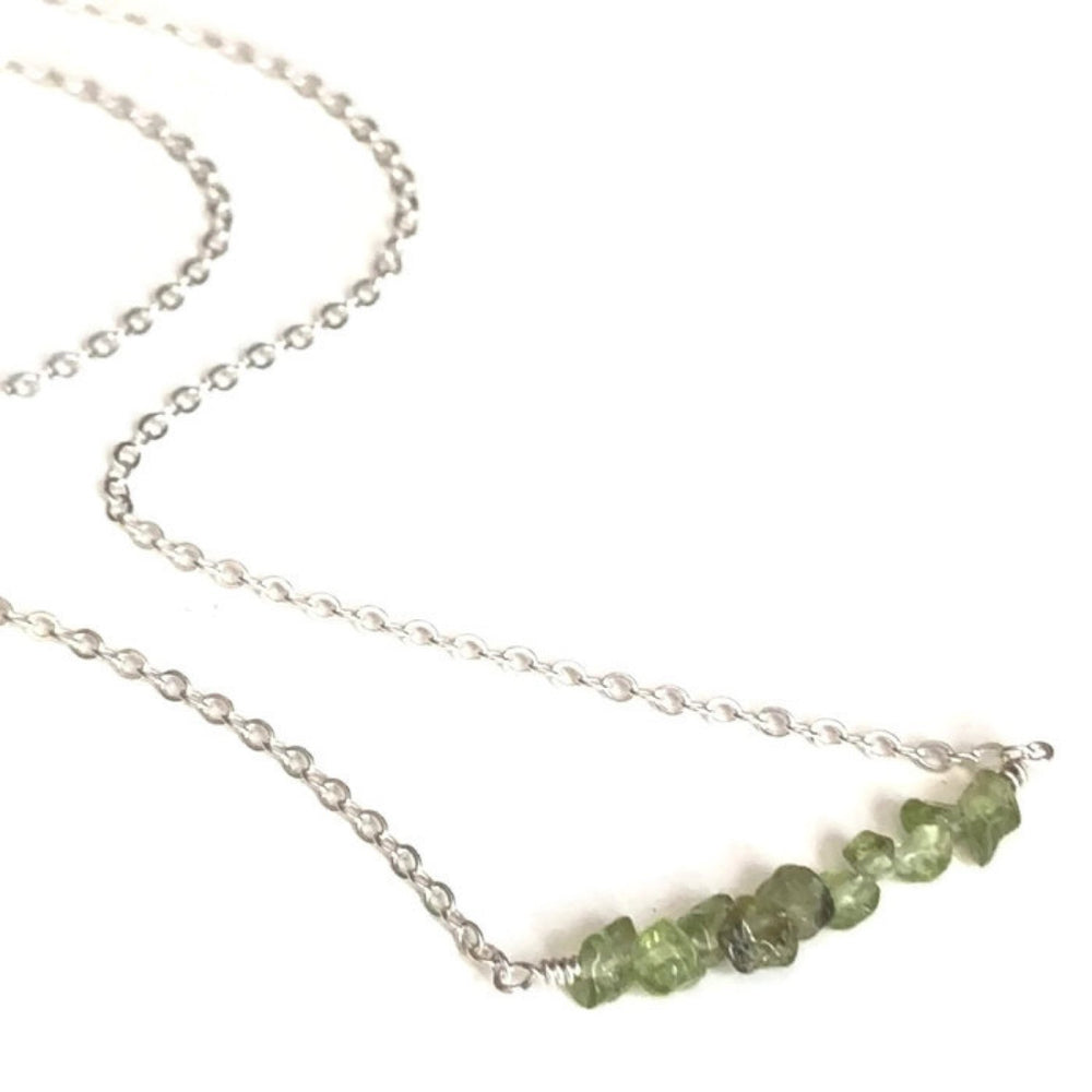 Peridot Nugget Necklace