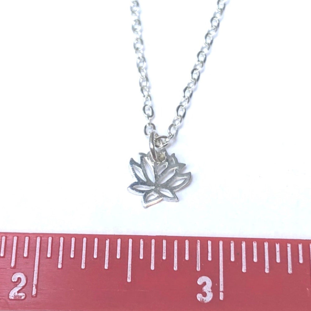 Lotus Charm Necklace