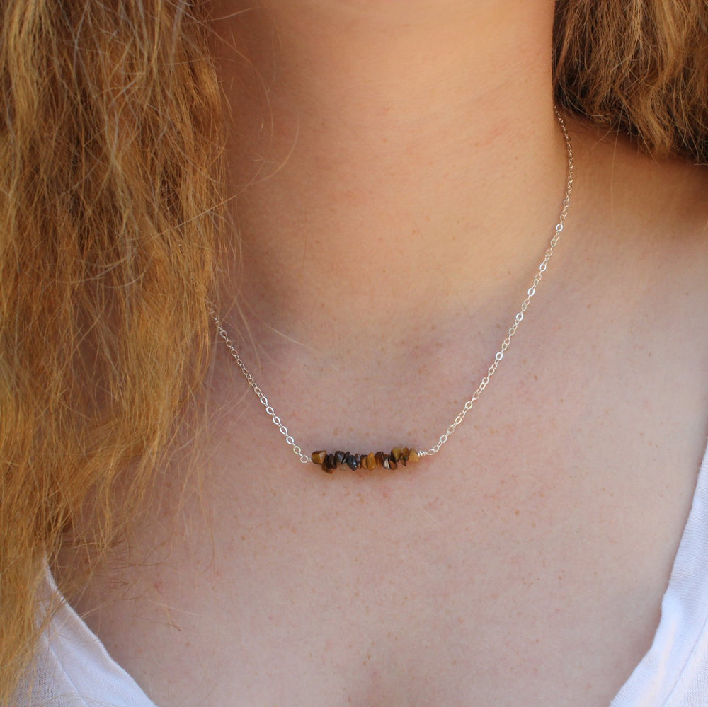 Tiger Eye Nugget Necklace