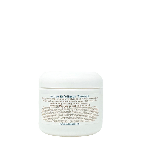 Active Exfoliation Therapy / Glycolic Exfoliating Scrub / Glycolic Body Treatment
