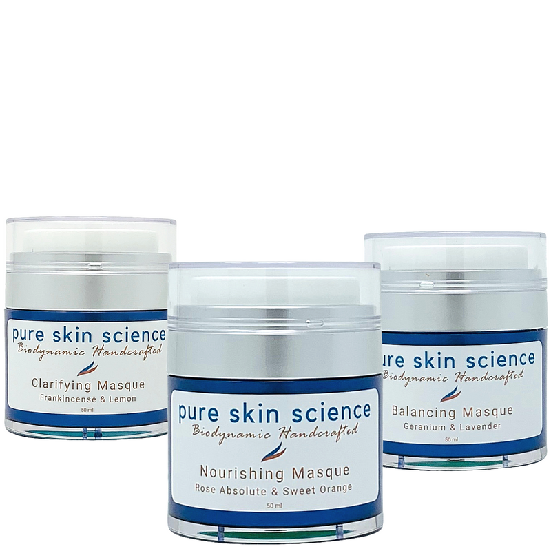 At-Home Treatment Masques Trio / Nourishing / Clarifying/ Balancing Aromatherapy Facial Masques