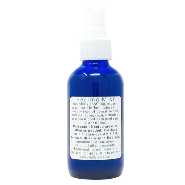 Healing Mist with Colloidal Silver & Niaouli (Irritated / Acne / Rosacea / Post Peel / Inflamed Skin Conditions)