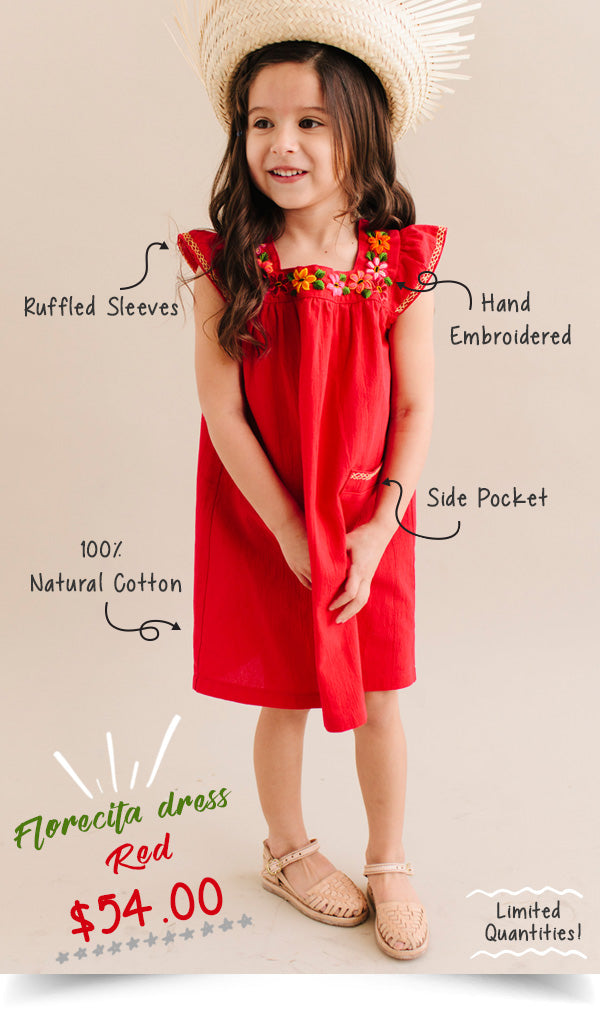 Florecita dress red Mikoleon