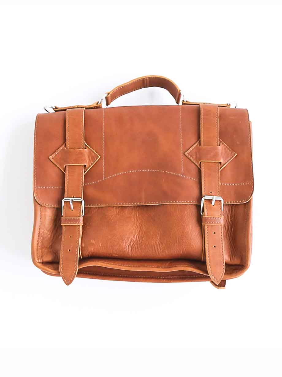 Leather Satchel Roble