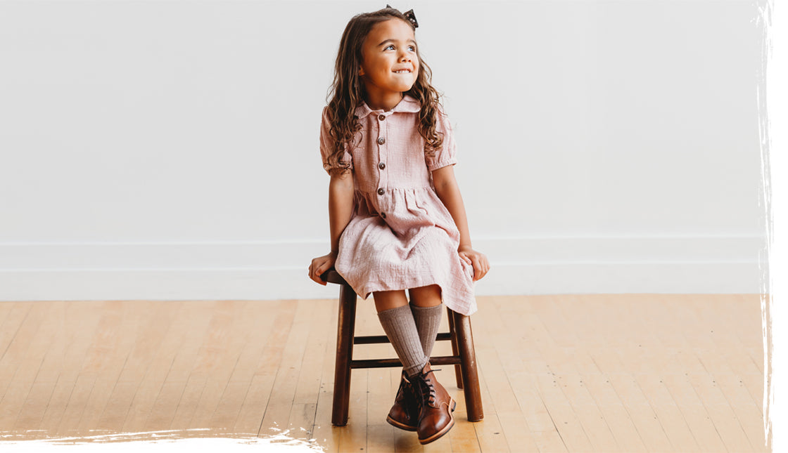 Mikoleon Leather Boots: Heirloom Bootss Brown For Kids