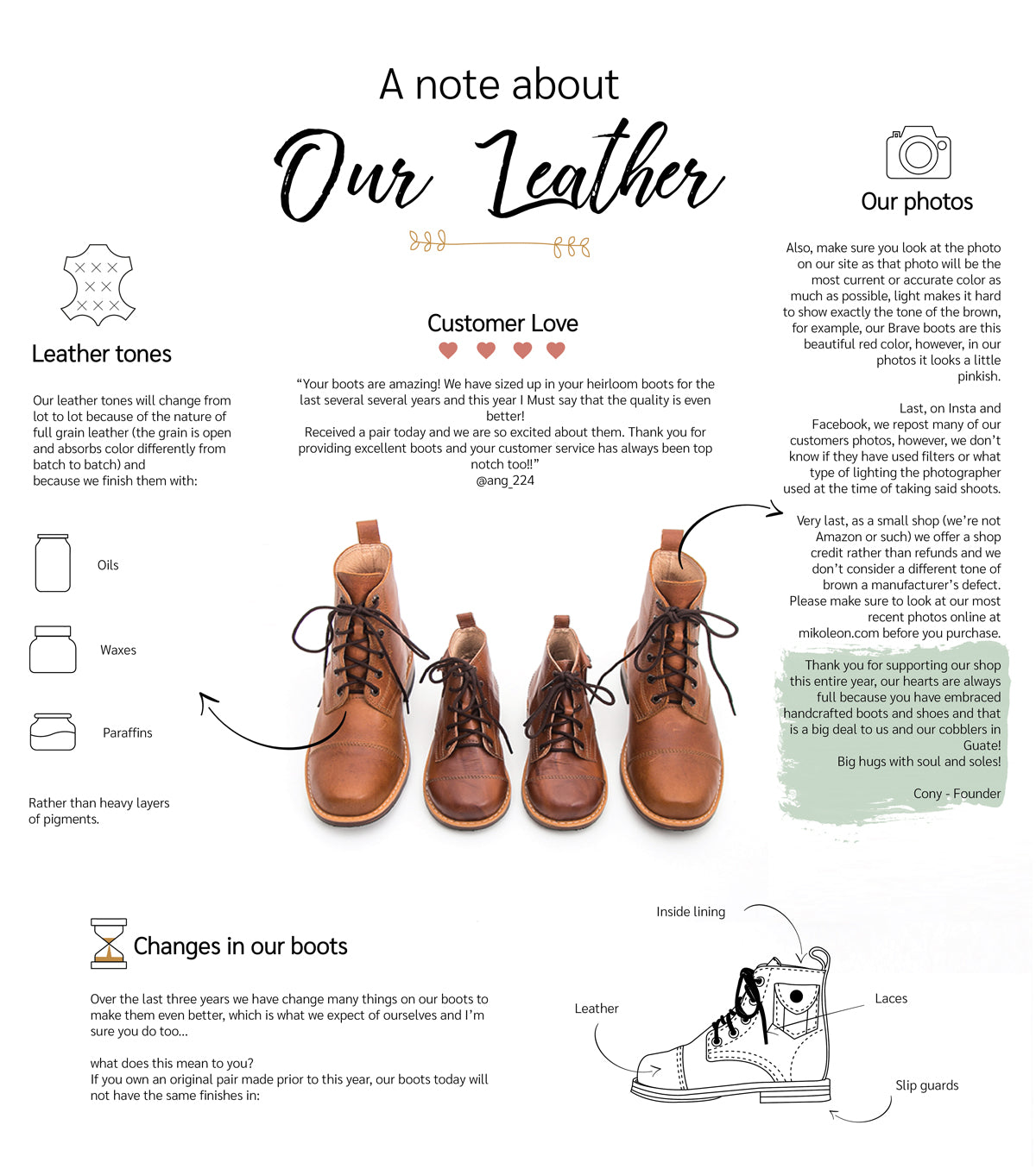 A Note About Our Leather - Mikoleon LLC