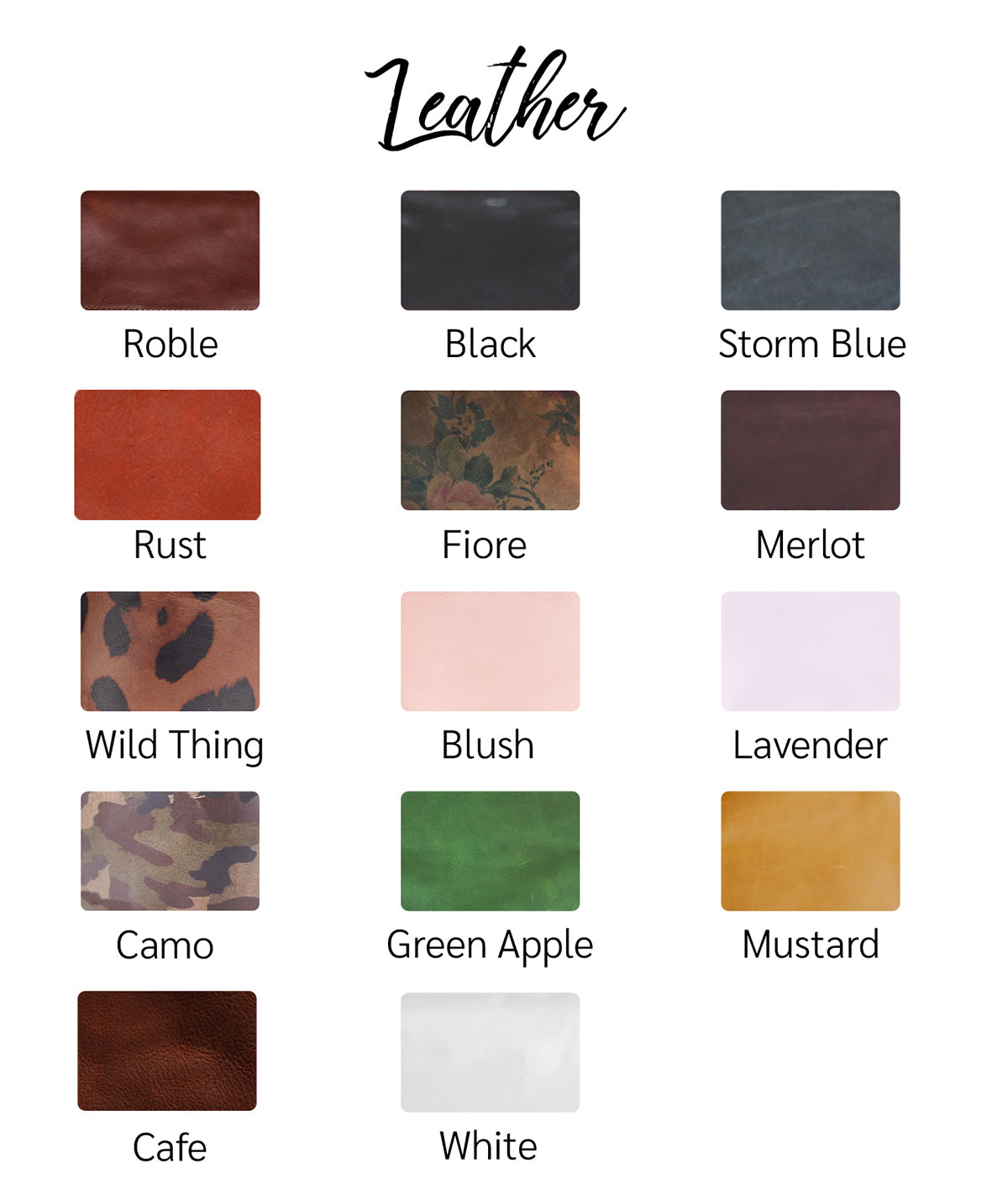 Choose Your Leather