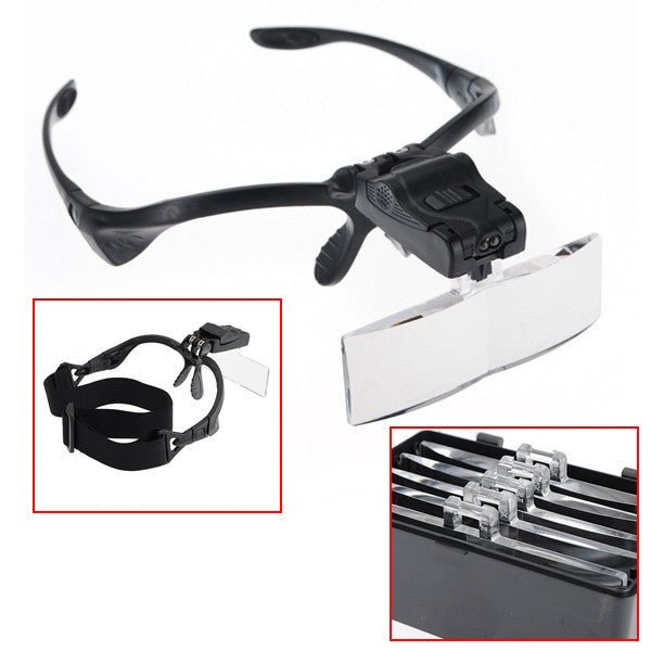 Magnifying LED Glasses w/ Headband for Microblading