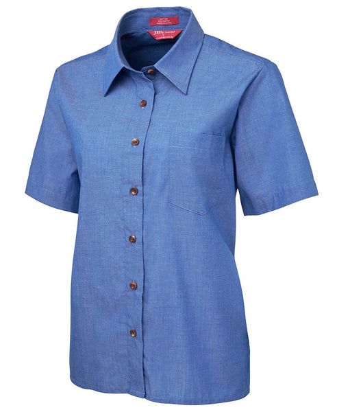 BWC4LICS Ladies Original S/S Indigo Chambray Shirt