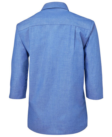 BWC4LICT Ladies Original 3/4 Indigo Chambray Shirt