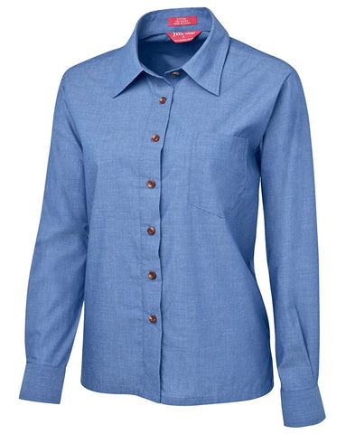 BWC4LIC Ladies Original L/S Indigo Chambray Shirt
