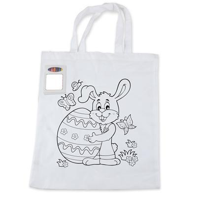 BWB5520 Colouring in Short Handle Tote Bag with Crayons