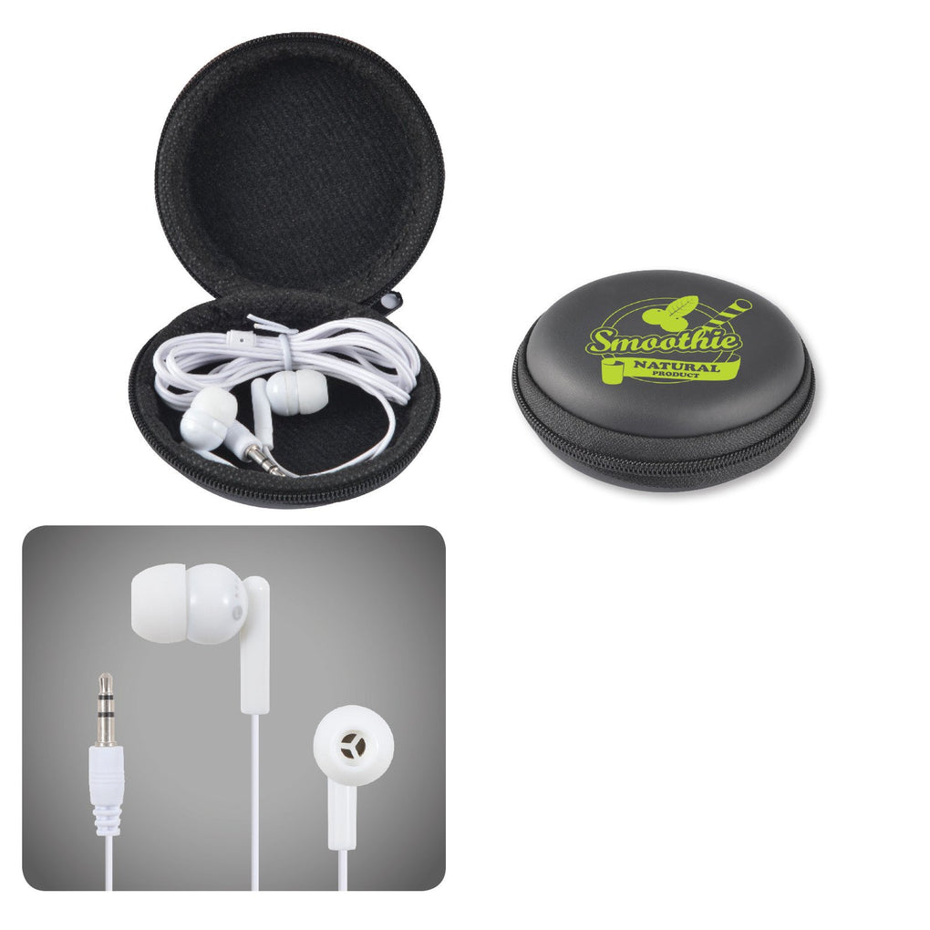 BW6150 Earbud / Headphone Set in Round EVA Zippered Case