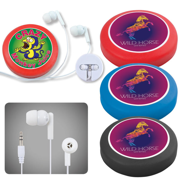 BW6154 Earphone / Headphone Set in Silicone Case with Cord Retainer