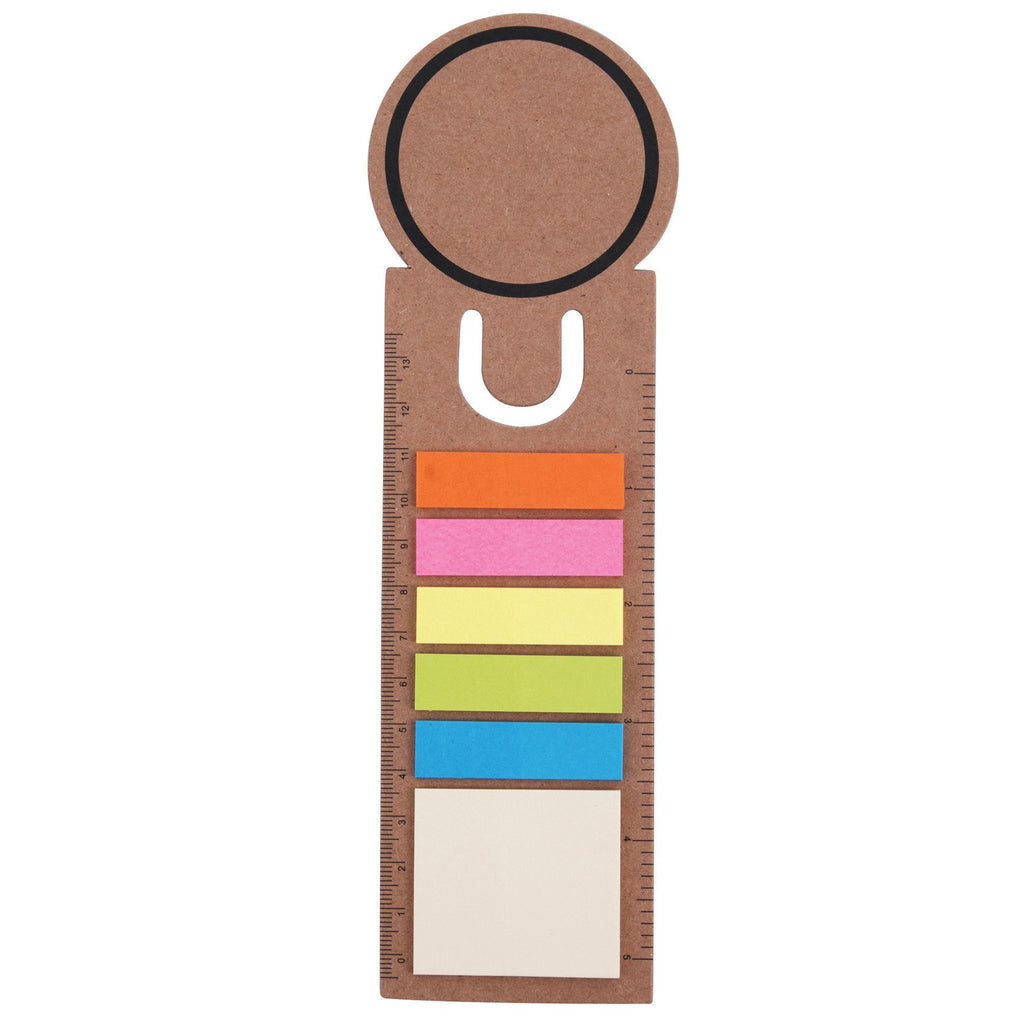 BW8860 Circle Bookmark / Ruler with Noteflags