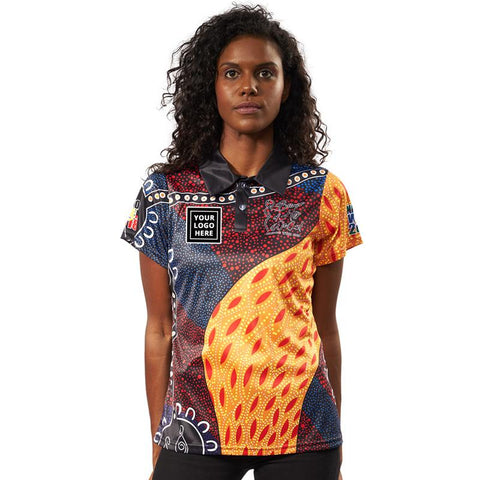 NAIDOC Week 2018 Custom Indigenous Womens Polo with Logo A Tribute To My Mother