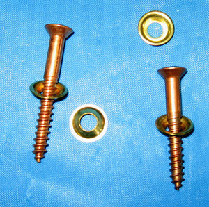 #10 Brass Finish Washer