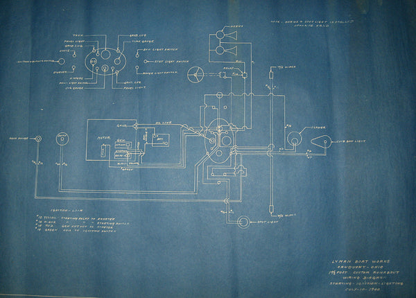 Original Wiring Diagram Blueprint