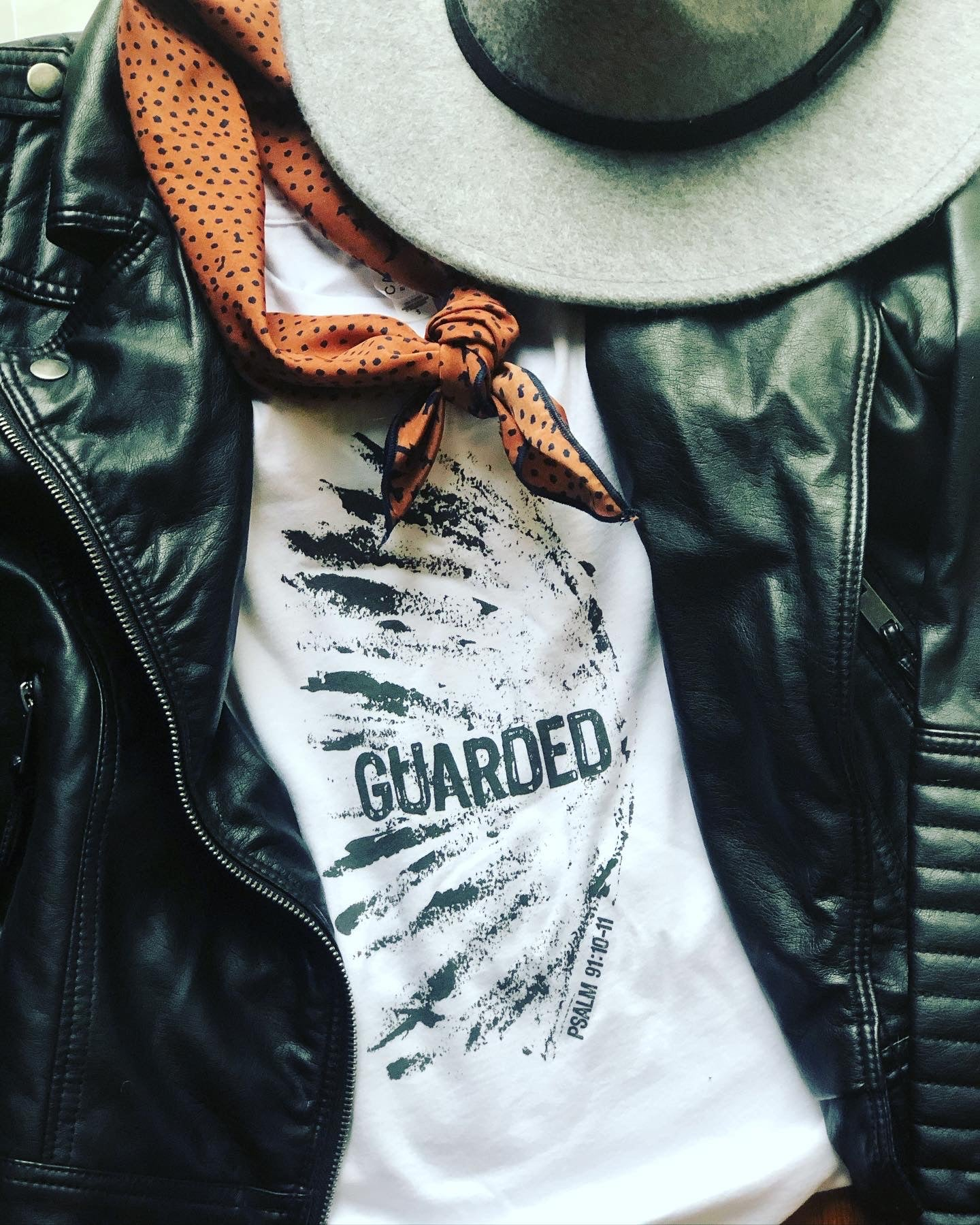 Guarded tee 5 small/ 5 medium available