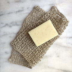 handmade soap and hemp washcloth
