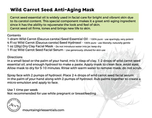 Wild Carrot Seed Anti-Aging Mask Kit