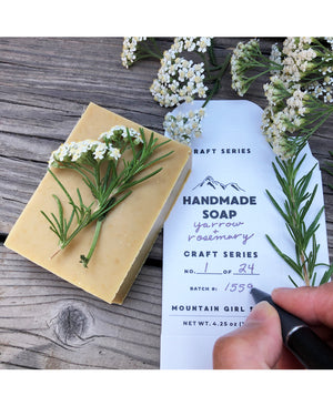 Craft Series Yarrow + Rosemary Soap Bar