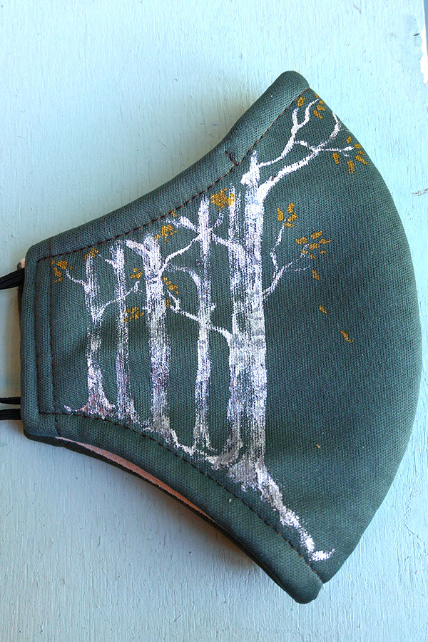 Swinger of Birches, Hand-Painted Mask Adult Size