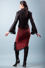 Lace Organza Jacket, Cotton and Silk.