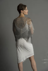 Papillon Sleeve Silk Organza Wrap