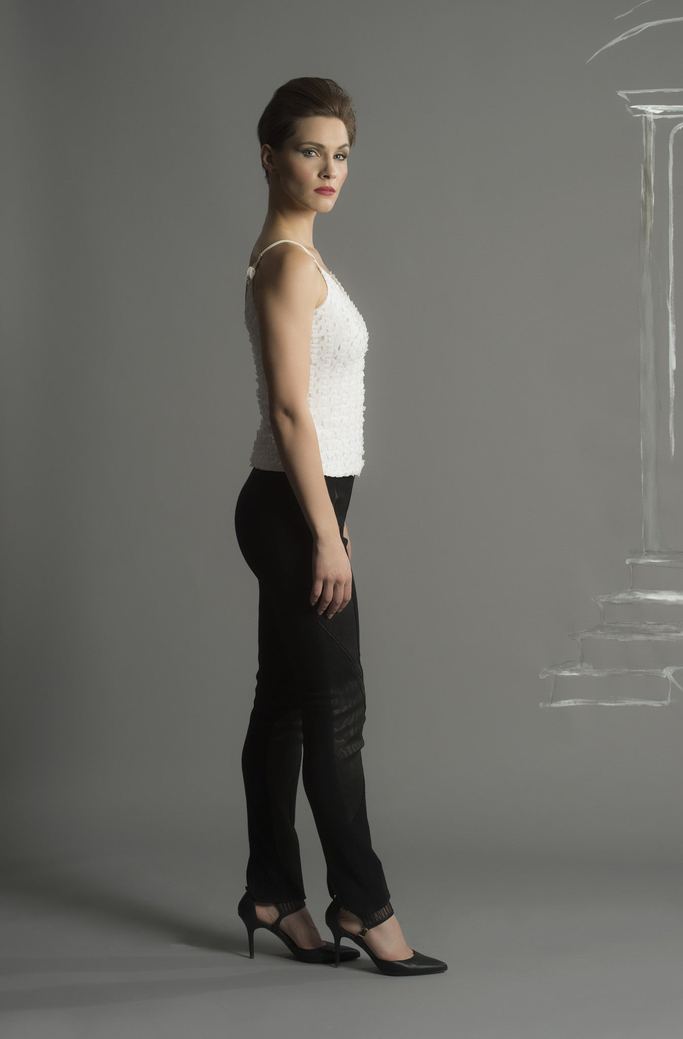 LUXE LAYERING: Tendril Beaded strap Camisole Top