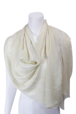 Cable Knit Wool/Silk/Cashmere whisper weight Scarf, more colours