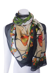 Freesia Stained Glass Scarf Square : 3Colourways