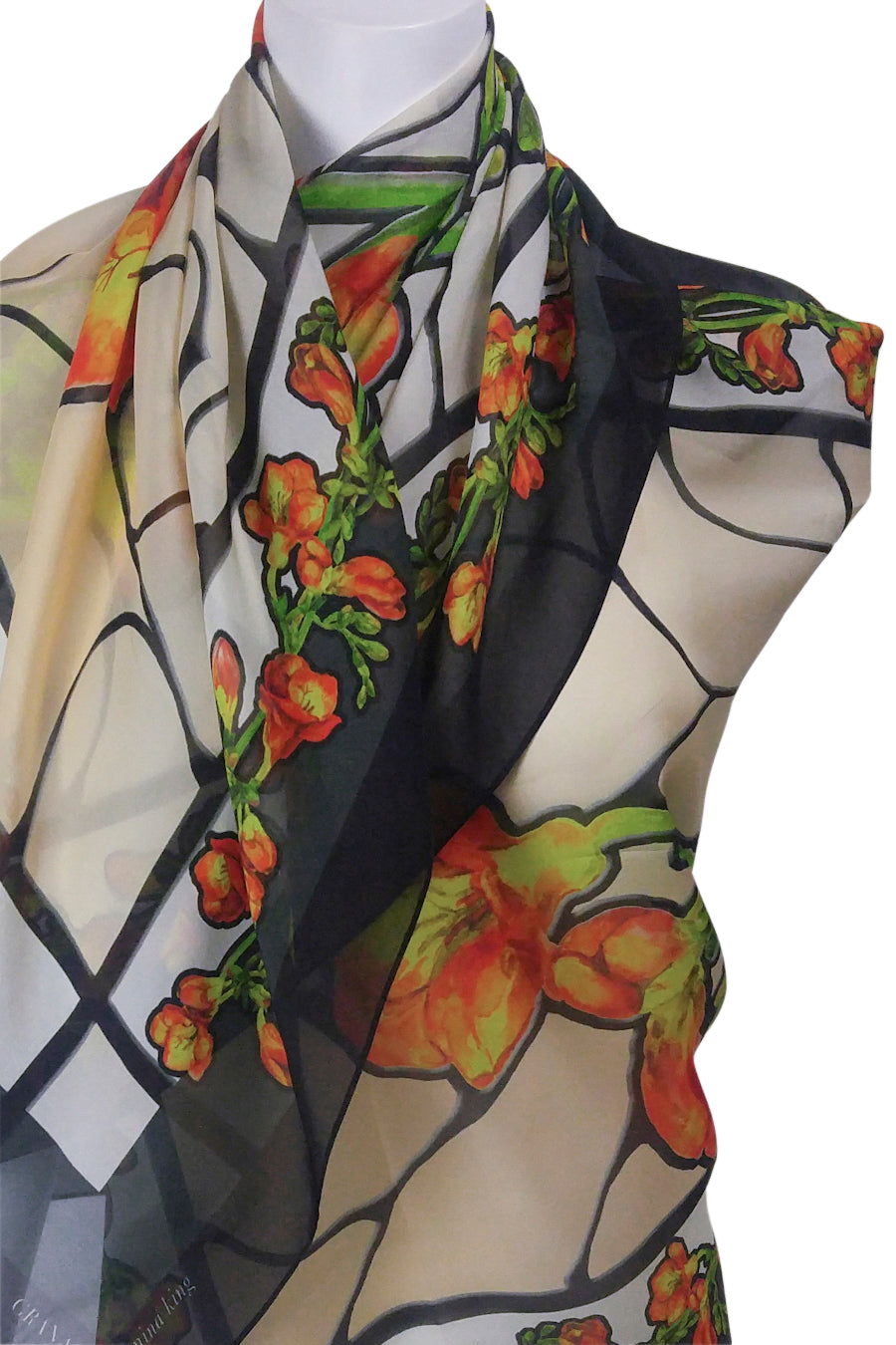 Freesia Stained Glass Scarf : 3Colourways