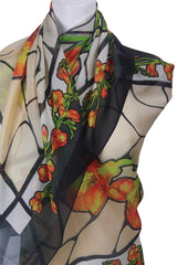 Freesia Stained Glass Wrap/Scarf : 3Colourways