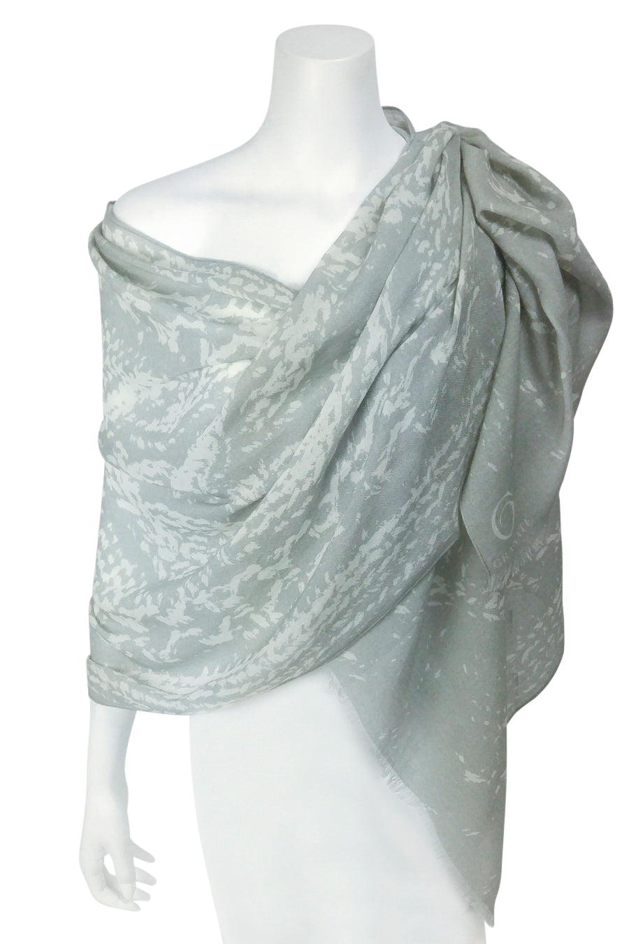 Cable Knit Wool/Silk/Cashmere Scarf Print semi-sheer scarf --colours