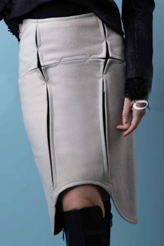 Hardanger Seamed Pencil Skirt