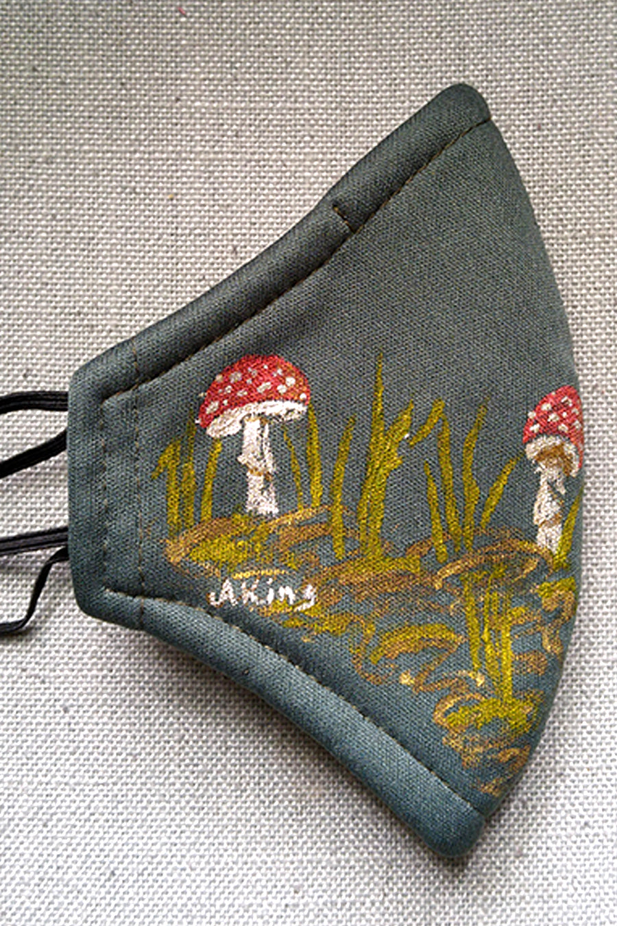 Toadstool Forest Hand-Painted Mask CHILD Size