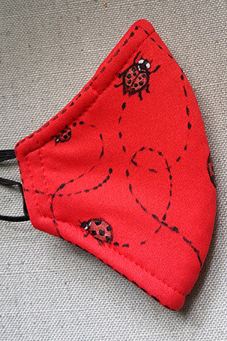 Ladybug Hand-Painted Mask CHILD Size