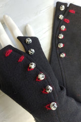 Painted Ceramic Button Gloves. More Colours