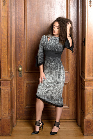 Sleeveless Renn Borealis Jacquard Dress