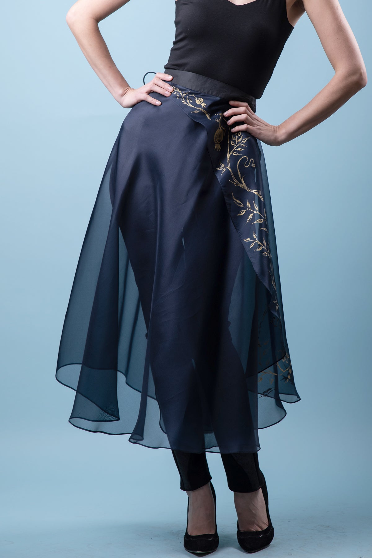 Diagonal Fête  Hostess Skirt in Silk Organza. more colours.