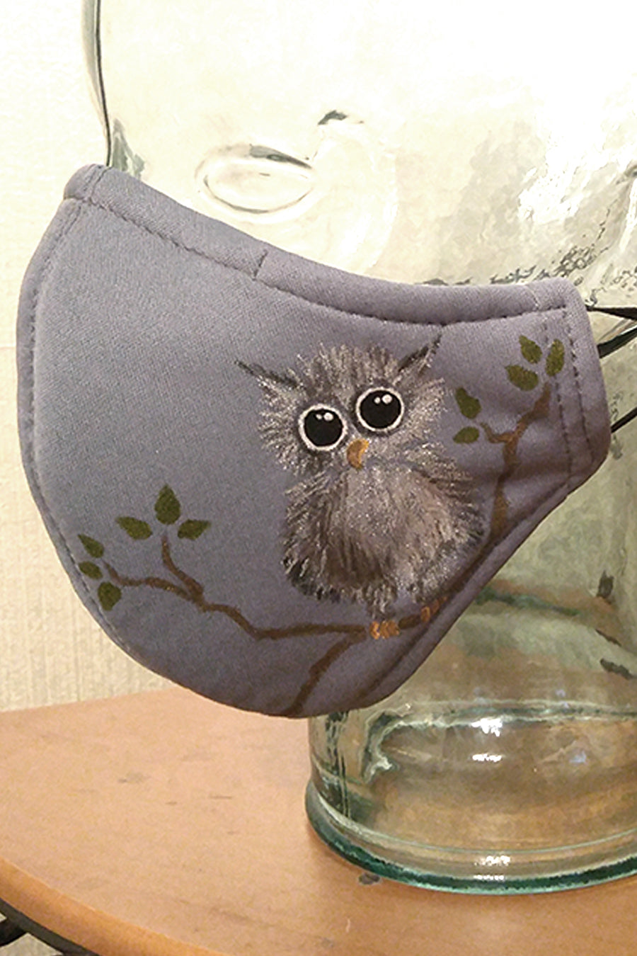 Little Owl Big Eyes Hand-Painted Mask CHILD Size