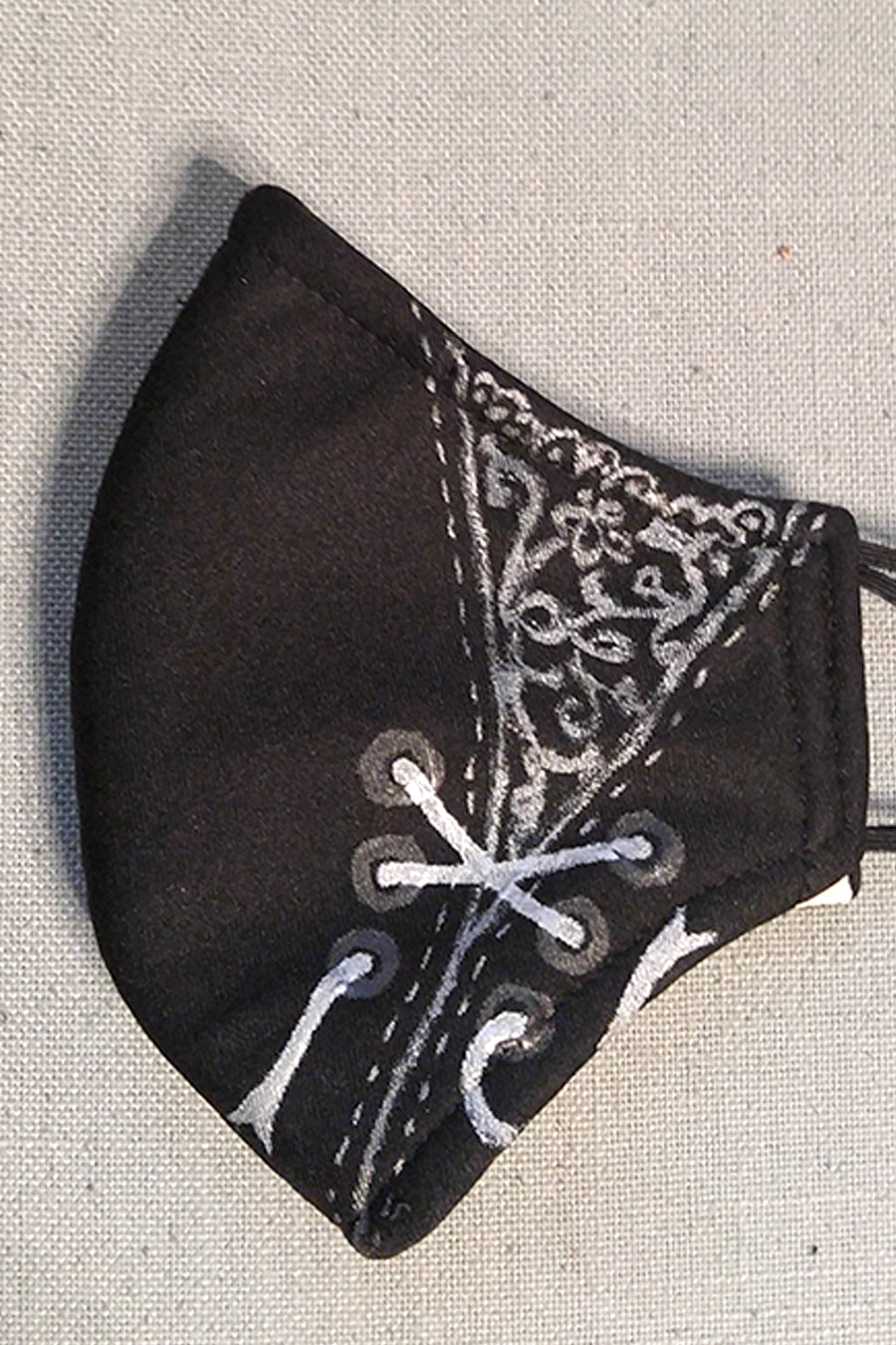Adult Size Lace and Lacing Artist Mask