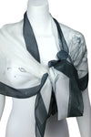 Égérie Forest Border Silk Scarf Black on Light, more colours