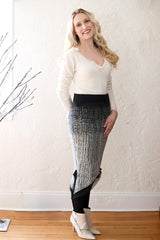 Borealis Silk Trimmed Pencil Skirt