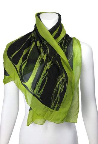 Stripe Trouser Figure Silk Scarf