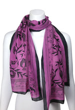 Persephone Pomegranate Scarf LONG Chiffon, more colours
